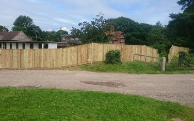 6 foot counter rail fencing
